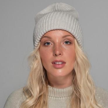 Light-grey hat, REVISE, 100% merino wool