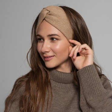 REVISE Headband, beige, 100% merino wool