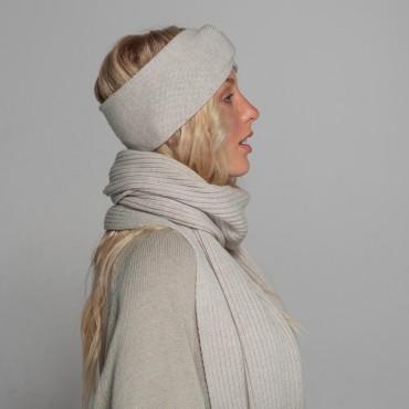 REVISE Headband, light grey, 100% merino wool