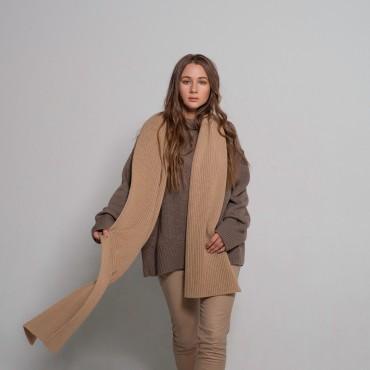 Merino scarf, beige