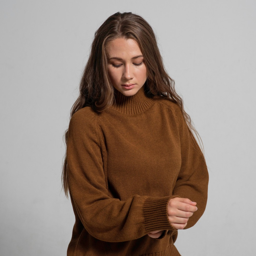 Cotton Sweater, brown