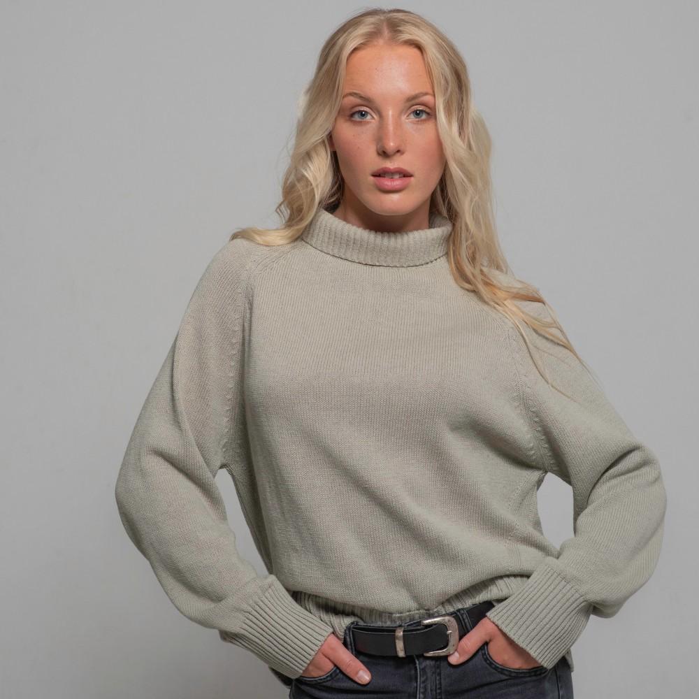 Cotton Sweater, light-grey