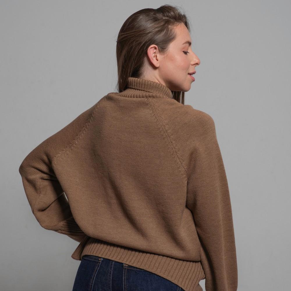 Merino sweater, caramel