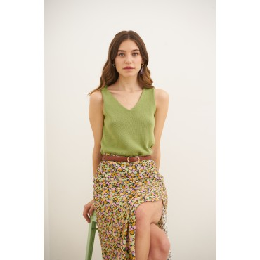 Knitted top, pistacio