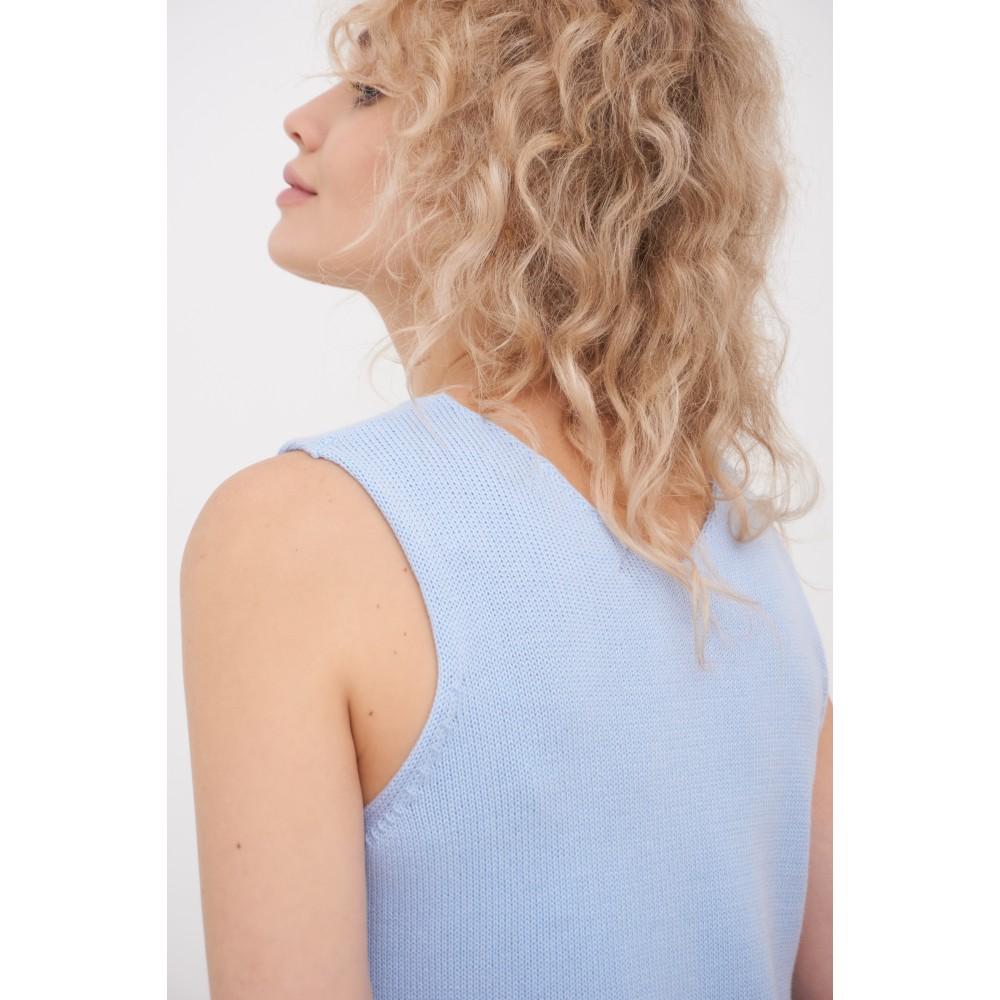 Knitted top, blue
